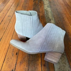 Crown Vintage Taupe Suede Booties